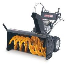 yellow craftsman snowblower